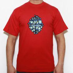 Tecno music cubos - Camiseta calidad 180 gr/m2 Russell 180