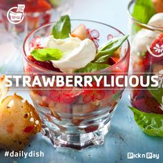 For an unusual taste combo, try this treat which combines balsamic #strawberries, basil, mascarpone cheese and melba crisps. #dailydish #picknpay #freshliving