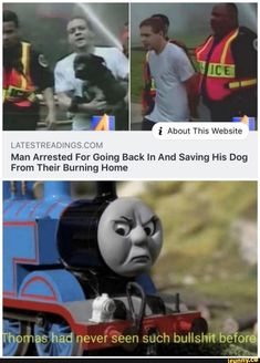 The Thomas picture is funny but not the headline Really Funny Memes, Stupid Funny Memes, Funny Relatable Memes, Haha Funny, Funny Posts, Funny Cute, Hilarious, Funny Stuff, Dankest Memes