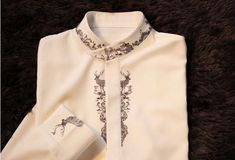 Fine Art Collection white bird and deer hand-painted unique elegant shirt by PurpleFishBowl on Etsy https://www.etsy.com/uk/listing/176202941/fine-art-collection-white-bird-and-deer