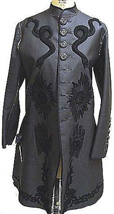 An embroidered women's frock coat by Gaultier from the mid-90s.  We definitely need to do more women's frocks and tails.
