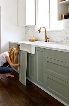Abby M. Interiors: love the kitchen cabinet colors on this post