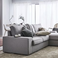 IKEA has a wide selection of sofas and one of them is KIVIK, a generous sofa series with armrests wide enough to sit on, seat cushions with memory foam that adapts to the contours of your body and chaise lounges big enough for two. Rooms To Go Furniture, Furniture Sale, Ikea Kivik, Ikea Sale, Living Room Scandinavian, Ikea Couch, Best Ikea, Corner Sofa, Sofa Covers