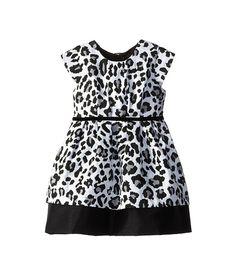 Pippa & Julie Black and White Animal Print Dress (Toddler/Little Kids)