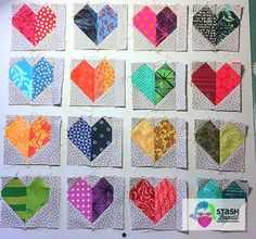 To You, with Love: Free Quilt Pattern Scrappy Quilt Patterns, Heart Quilt Pattern, Batik Quilts, Patchwork Quilting, Pattern Blocks, House Quilt Block, House Quilts, Quilt Blocks, Heart Block