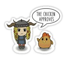 """The Chicken Approves"" HTTYD Race to the Edge Sticker"