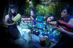 'Sleeping Beauty' - Somewhere in fairyland , a beautiful princess is sleeping peacefully, accompanied by her fairies friends - Mine&Hers campaign for clutch collection.