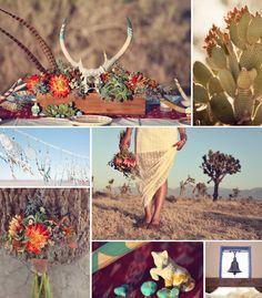 Southwestern dream catcher wedding inspiration, succulents and cactus