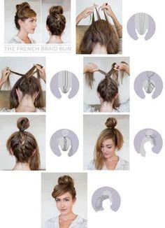 Cuuuuute hair bun and braid idea