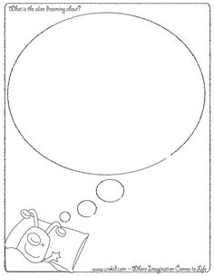 What is the alien dreaming about? CreKid.com - Creative Drawing Printouts - Spark your child's imagination and creativity. So much more than just a coloring page. Preschool - Pre K - Kindergarten - 1st Grade - 2nd Grade - 3rd Grade. www.crekid.com