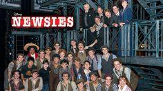 Broadway Newsies cast and crew