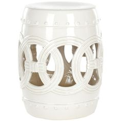 Safavieh FV20910Ceramic Double Coin Stool | Wayfair