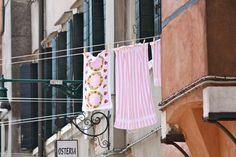Drying clothes in Italy.