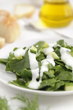 If you are looking for a supremely light, refreshing, and flavorful spinach salad recipe, you will love this one. Combining healthy spinach with cucumber and onion, this wonderful Greek-inspired dish makes a beautiful side dish for steak or chicken, or a great meal in its own right. Perhaps you fancy serving this as an appetizer, in which case you will get eight to ten servings. As a side dish you might not be able to feed so many, so double up on the ingredients if you have a crowd coming f...