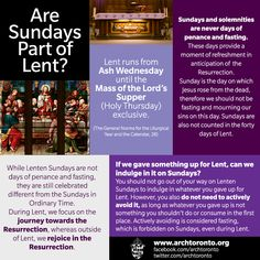 Are Sundays part of Lent? Interesting info!