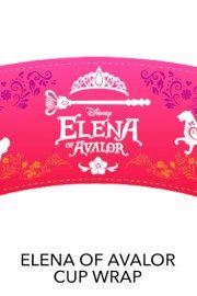Cupcake Wrappers - Free Printables freaturing Disney Princess Elena of Avalor
