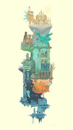 Dark Souls map art by Judson Cowan : gaming Sif Dark Souls, Arte Dark Souls, Bloodborne Art, Soul Game, Art Tumblr, Fan Art, Fantasy Landscape, Dark Fantasy Art, Pixel Art