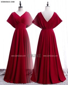 10% off now Vneck Elegant Burgundy Ruffled Formal Dress with Dolman Sleeves at GemGrace. Click to learn our pro custom-made service for wedding dress, formal dress. View Special Occasion Dresses for more ideas. Stable shipping world-wide. Lovely Dresses, Trendy Dresses, Fashion Dresses, Long Dresses, Prom Dresses, Formal Dresses, Mother Of The Bride Looks, I Dress, Party Dress
