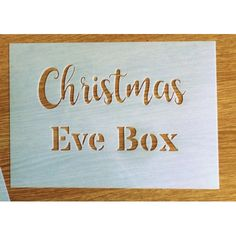 Christmas Eve Box Stencil More