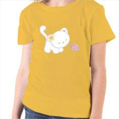 Camiseta infantil dibujo gato