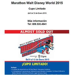 Marathon Walt Disney World 2015, Cupo Limitado - 809.535.4941 - Publicidad