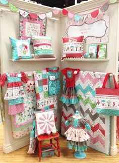 Little Red Booth - spring quilt market 2013