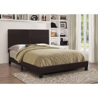 Refined and intimate, this bed is covered in leatherette, and available in an assortment of colors. It is dropship ready and entirely packaged in one carton, making it a convenient and great value purchase. Upholstered Full Bed, Upholstered Platform Bed, Full Platform Bed, Queen Platform Bed, Bedroom Sets, Bedding Sets, Bedroom Decor, Queen Size Bed Sets, King Size