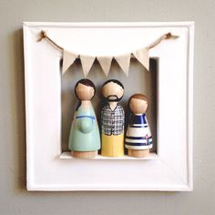 Personalized Mother's Day gifts: Totally custom heirloom peg dolls. The detail is unreal.