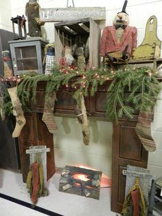 Primitives love the display NOT the faux fireplace