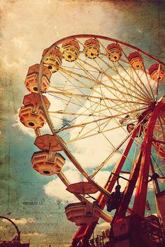 Going Around and Around- 8x12 Photograph- Vintage Ferris Wheel- Fine Art