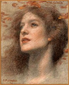 "Edward Robert Hughes (1851-1914) English painter - ""With the Wind"" (modified), 19th century"