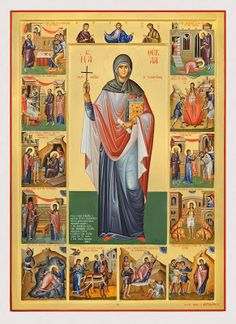 Full of Grace and Truth: St. Thekla the Protomartyr and Equal-to-the-Apostles Archangels, Byzantine Art, Mary Magdalene And Jesus, Orthodox Christian Icons, Christian Art, Art Icon