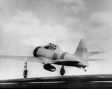 Mitsubishi A6M2 Zero Type 21, taking of from the carrier Akagi during the raid on Pearl Harbour.