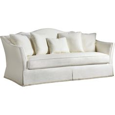 Baker furniture kent skirted sofa tufted 6352s 1 for Affordable furniture in baker