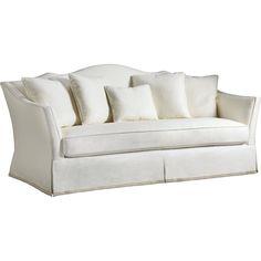 baker furniture kent skirted sofa tufted 6352s 1