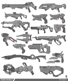 Node world weaponery mixed by DavidSequeira on deviantART