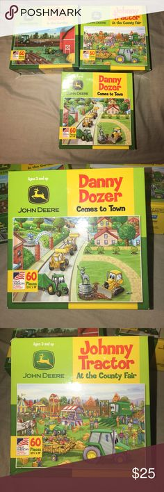 John Deere Puzzles (bundle of 3 boxes) Three John Deere Puzzles in original boxes- John Deere Licensed Product (Two new) and (one used one time) John Deere Other
