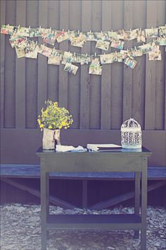 Cute idea for pictures up at a wedding, birthday, anniversary etc.