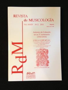 Revista de musicología nº 34-2 (2011)