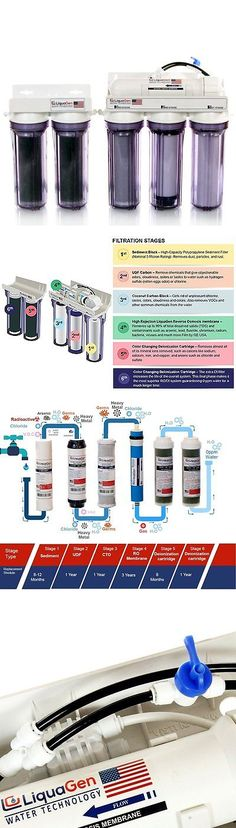 Reverse Osmosis and Deionization 77658: 6-Stage Aquarium Reef Reverse Osmosis Water Filter System-Ro/Di | 150 Gpd + Kit BUY IT NOW ONLY: $280.39