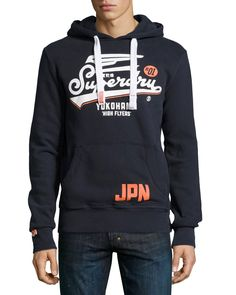 Superdry High Flyers Entry Hooded Sweatshirt, Eclipse Navy