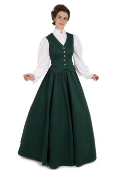 Twill Vest and Skirt By Recollections