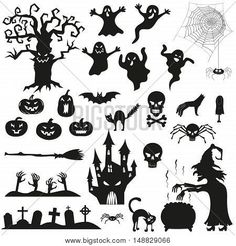 Vector icons for halloween invitation card or halloween party poster vector. Halloween Party Poster, Halloween Vector, Halloween Scene, Halloween Invitations, Halloween 2020, Halloween Diy, Happy Halloween, Halloween Cookies, Halloween Stuff