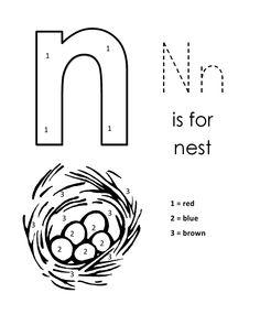 1000 images about letter n on pinterest letter n nests and bird nests. Black Bedroom Furniture Sets. Home Design Ideas