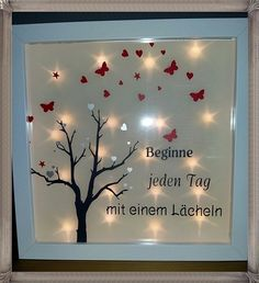 Items similar to photo frame with fairy lights and saying on Etsy - image 0 - 3d Picture Frame, White Picture Frames, Old Glass Bottles, Diy Lampe, Licht Box, Baby Bump Photos, Light Chain, Block Craft, Battery Lights