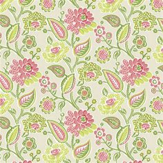 Pink and Lime Bertie Fabric | Carousel Designs