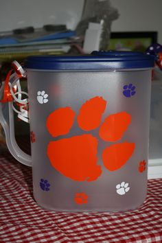 Clemson tea jug...need to do a uga pitcher