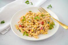 Koude pasta met tonijn