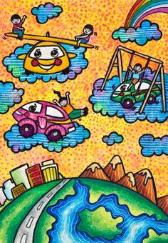 'My Playmate, My Dream Car' by Bon Yannicka M. Chua, Aged 11, Philippines: 3rd Contest, Bronze #KidsArt #ToyotaDreamCar
