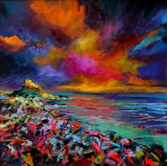Julie Dumbarton Fine Art - check out her website…I just love her paintings…so vibranthttp://www.juliedumbarton.com